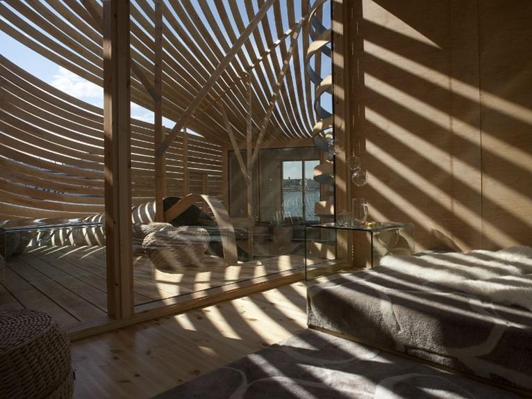 Helsinki wisa wooden design hotel by pieta linda auttila for Wooden hotel design