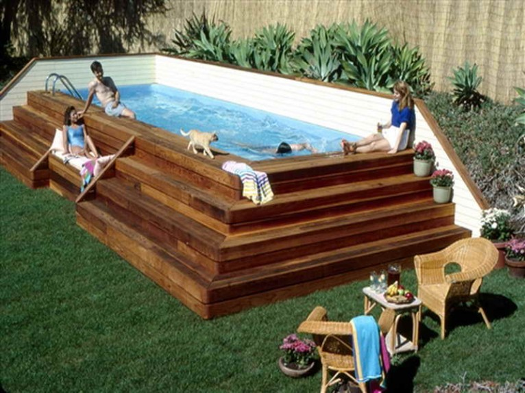 Above Ground Pool In Your Backyard
