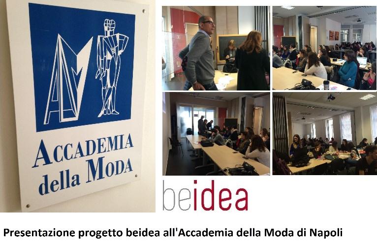 Presentazione progetto beidea e concorso valigeria roncato for Accademia moda napoli