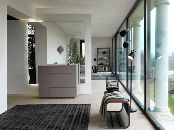 Bagni touch materiali ricercati e forme essenziali da for Bagni interni case