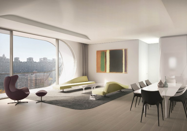 Buy an apartment in zaha hadid s first nyc building for Zaha hadid new york apartment