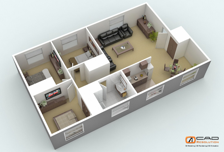 Offshore architectural 3d floor plans and house design Architecture design house plans 3d