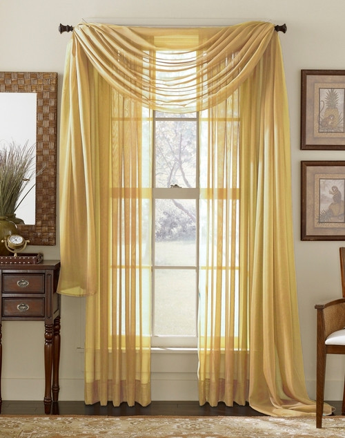 The sheer curtains are the perfect ones to bring lightness to any type of  window because of the fact that their sheer fabric allows at little privacy  when ...
