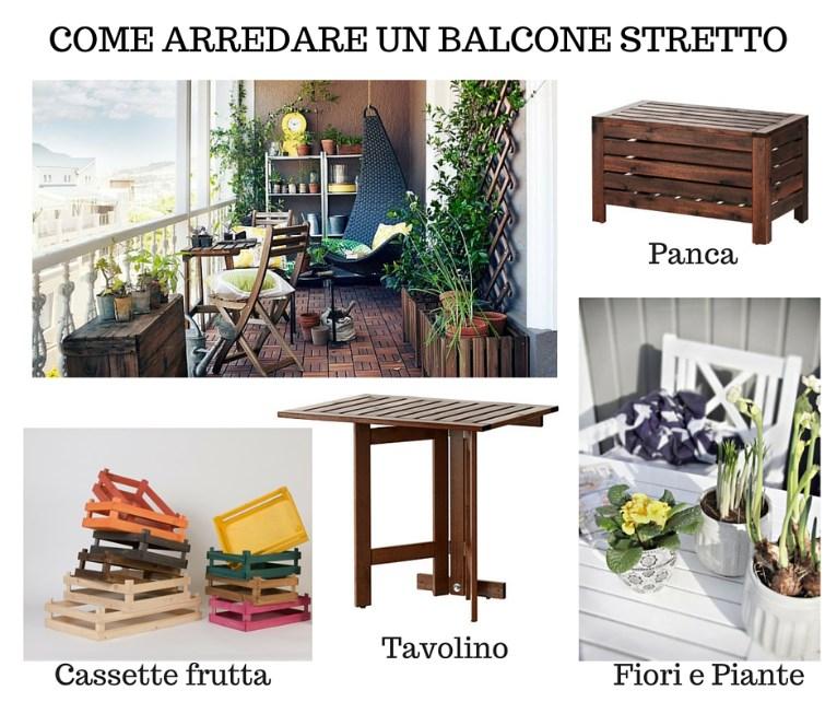 Come arredare un balcone stretto e lungo for Arredare terrazzi piccoli