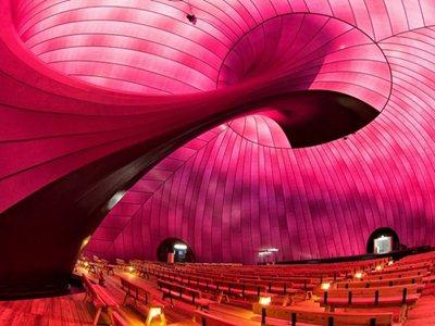 The ARK NOVA Concert hall by Arata Isozaky in Japan