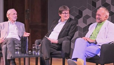 Richard Rogers and Renzo Piano with Alan Rusbridger