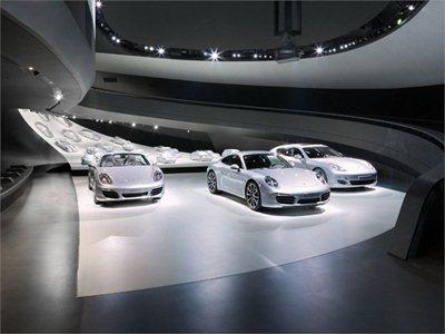 The Porsche Pavilion in the Volkswagen AutoStadt