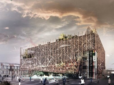 The Italy Pavilion for Expo 2015: a community 'nest'