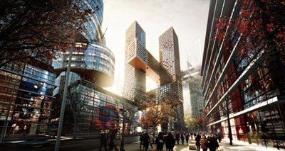 Danish architects BIG have chosen Seoul for their Cross Towers project