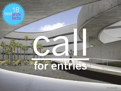 best architects 18 Award: call for entries