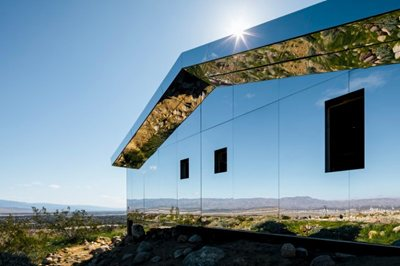 MIRAGE: the suburban home disappears in the desert