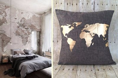 Decorating with Maps - Interiors for World Travellers