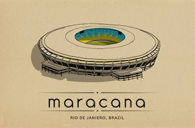 World of Stadiums: architecture + illustration + passion for football