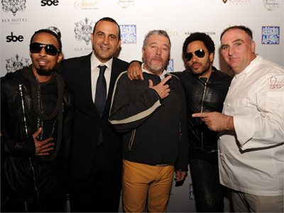 Opening of the SLS Hotel South Beach Miami designed by Starck