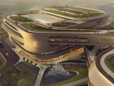 Guangzhou Infinitus Plaza by Zaha Hadid Architects breaks ground