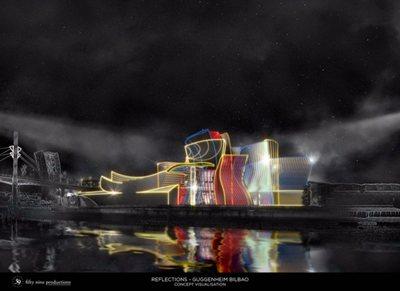 "Guggenheim Bilbao turns 20! Eyes focused on ""Reflections"" tonight"