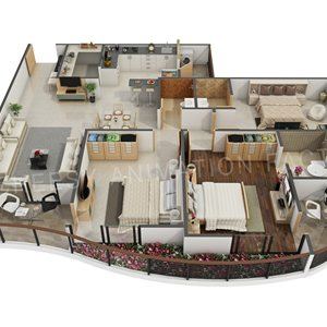Exceptionnel The Cheesy Animation Produces 3D Floor Plan Design And Rendering Services  Along With The 3D Home Floor Plan, 3D Hotel, Villa, Bungalows, Restaurants,  ...
