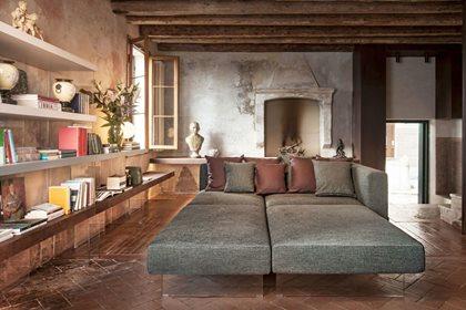 AIR | Sofa with chaise longue