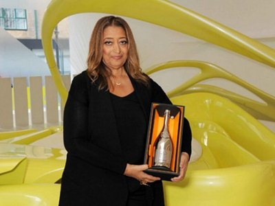 Dame Zaha Hadid wins the Veuve Clicquot Business Woman of the Year award 2013