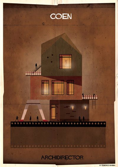 Federico Babina & the imaginary architecture of movie director-designed homes