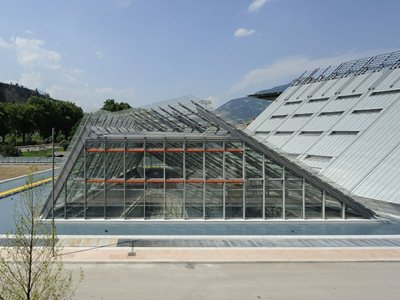"""Renzo Piano's """"mountain"""" the MUSE opens in Trento Italy"""