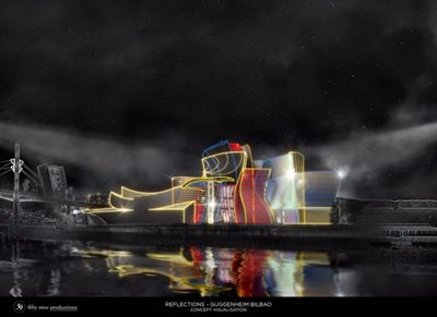 "Guggenheim Bilbao turns 20! Eyes focused on ""Reflections"" tonight"